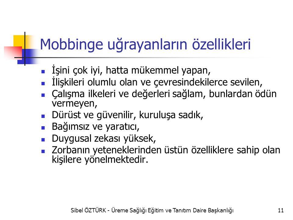 Mobbinge uğrayanların özellikleri