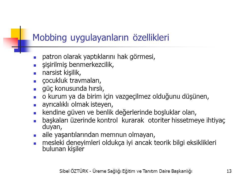 Mobbing uygulayanların özellikleri