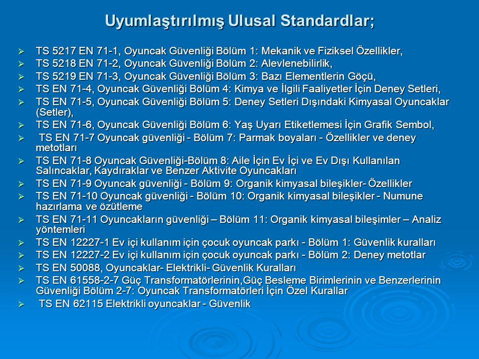 Uyumlaştırılmış Ulusal Standardlar;