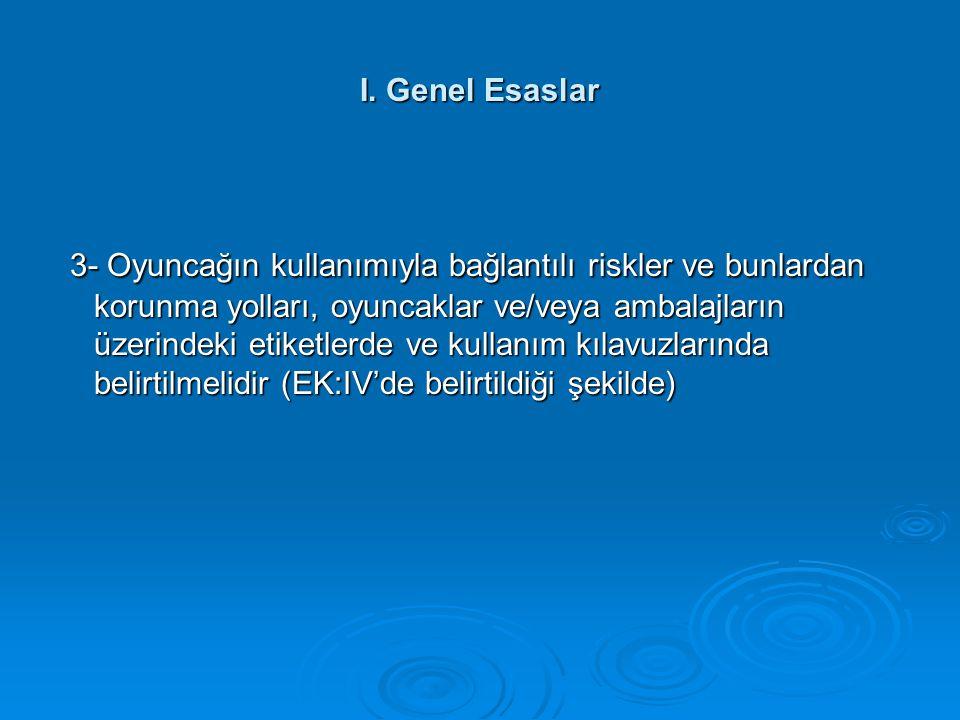 I. Genel Esaslar