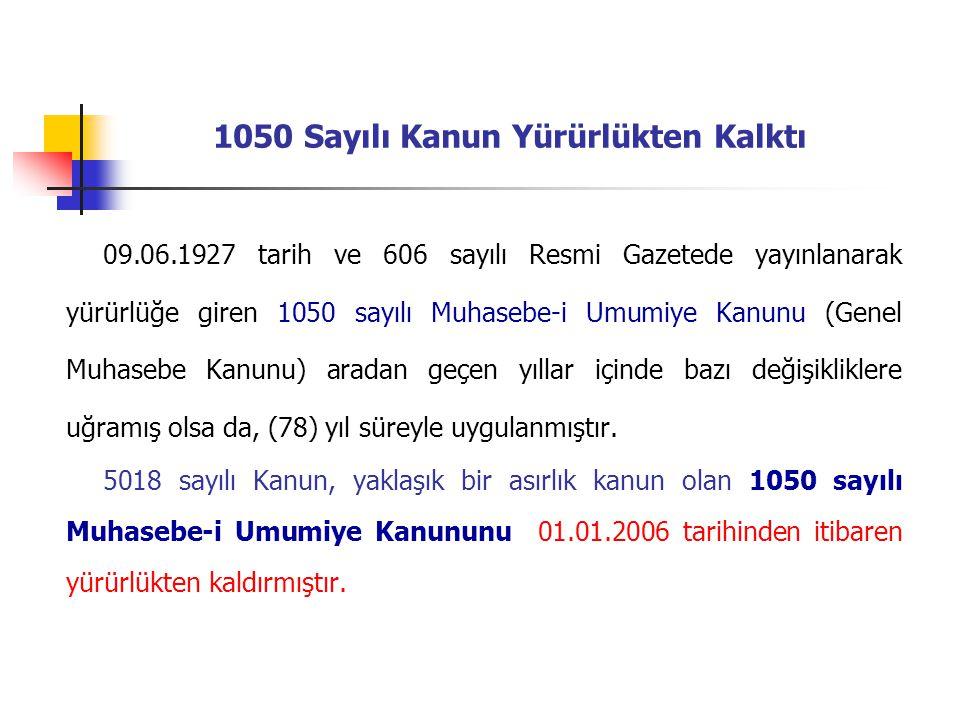 1050 Sayılı Kanun Yürürlükten Kalktı