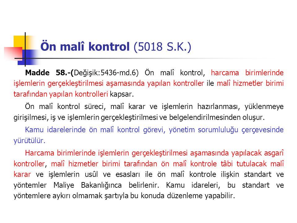Ön malî kontrol (5018 S.K.)
