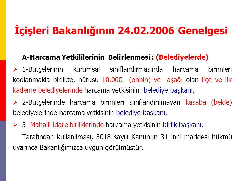 İçişleri Bakanlığının 24.02.2006 Genelgesi