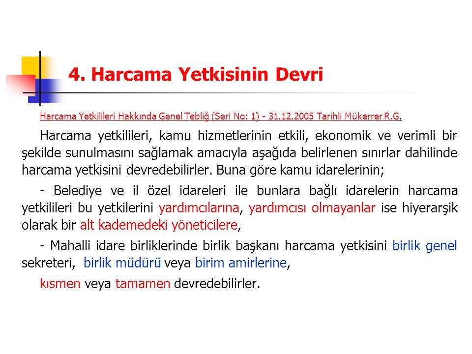 4. Harcama Yetkisinin Devri