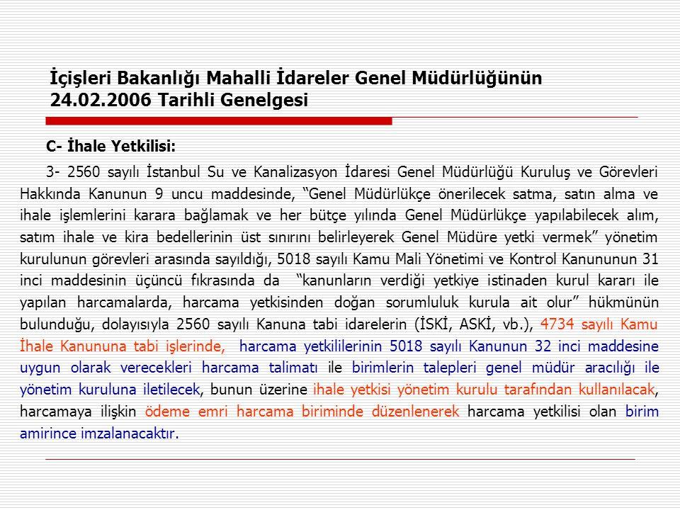 İçişleri Bakanlığı Mahalli İdareler Genel Müdürlüğünün 24. 02