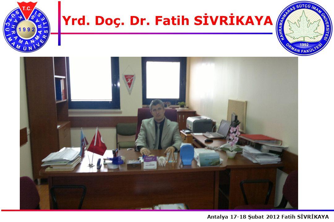 Yrd. Doç. Dr. Fatih SİVRİKAYA