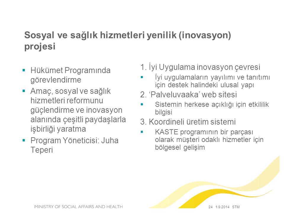 Sosyal ve sağlık hizmetleri yenilik (inovasyon) projesi