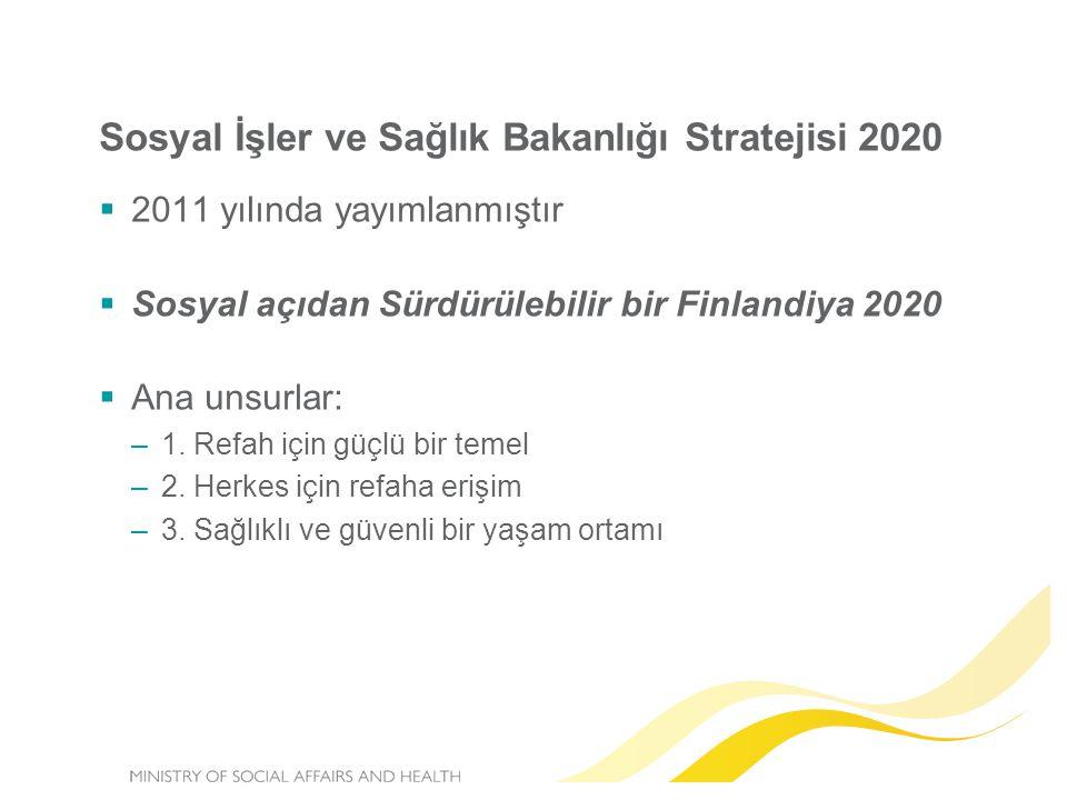 Sosyal İşler ve Sağlık Bakanlığı Stratejisi 2020