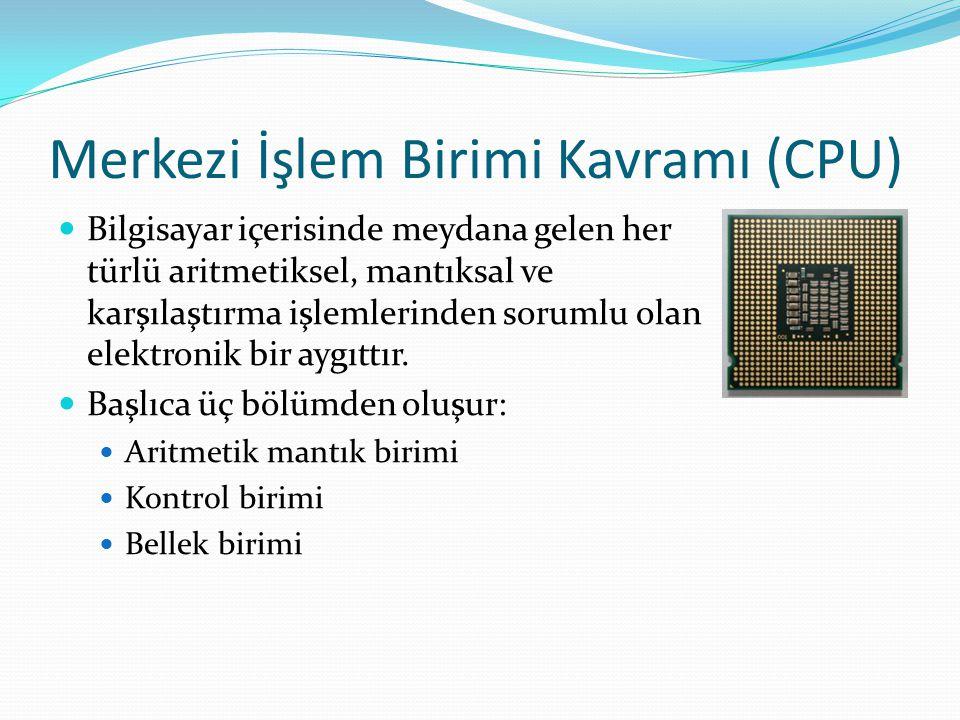 Merkezi İşlem Birimi Kavramı (CPU)