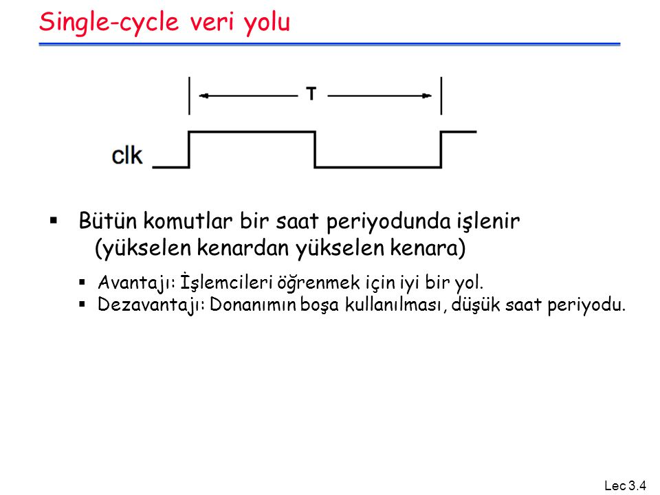 Single-cycle veri yolu