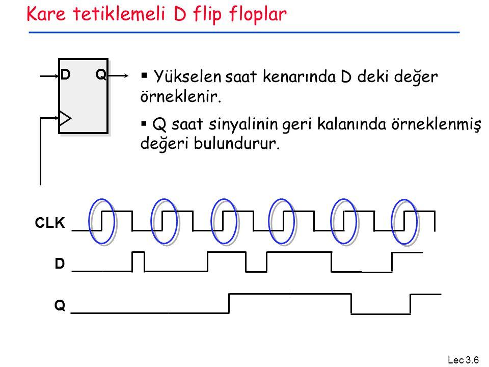 Kare tetiklemeli D flip floplar