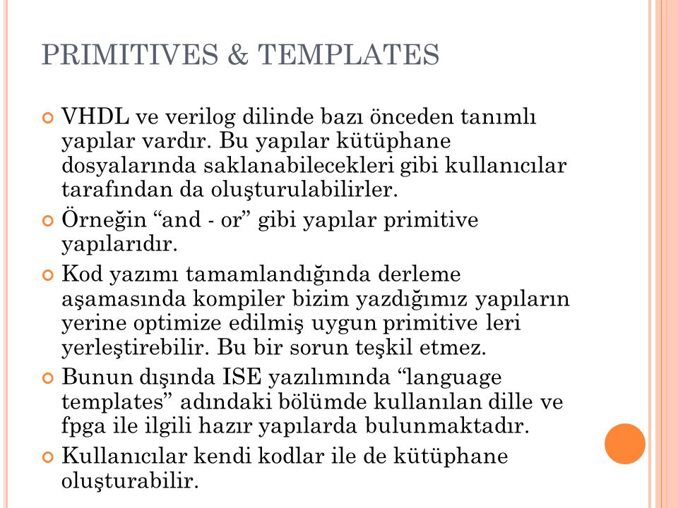 PRIMITIVES & TEMPLATES