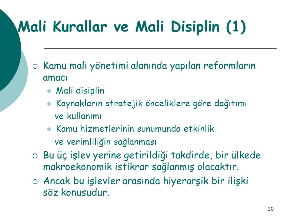 Mali Kurallar ve Mali Disiplin (1)