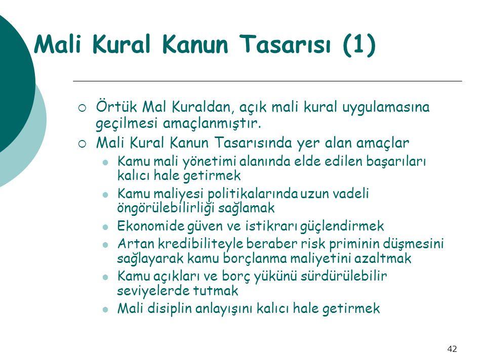 Mali Kural Kanun Tasarısı (1)