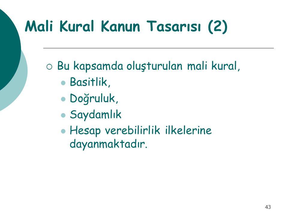 Mali Kural Kanun Tasarısı (2)