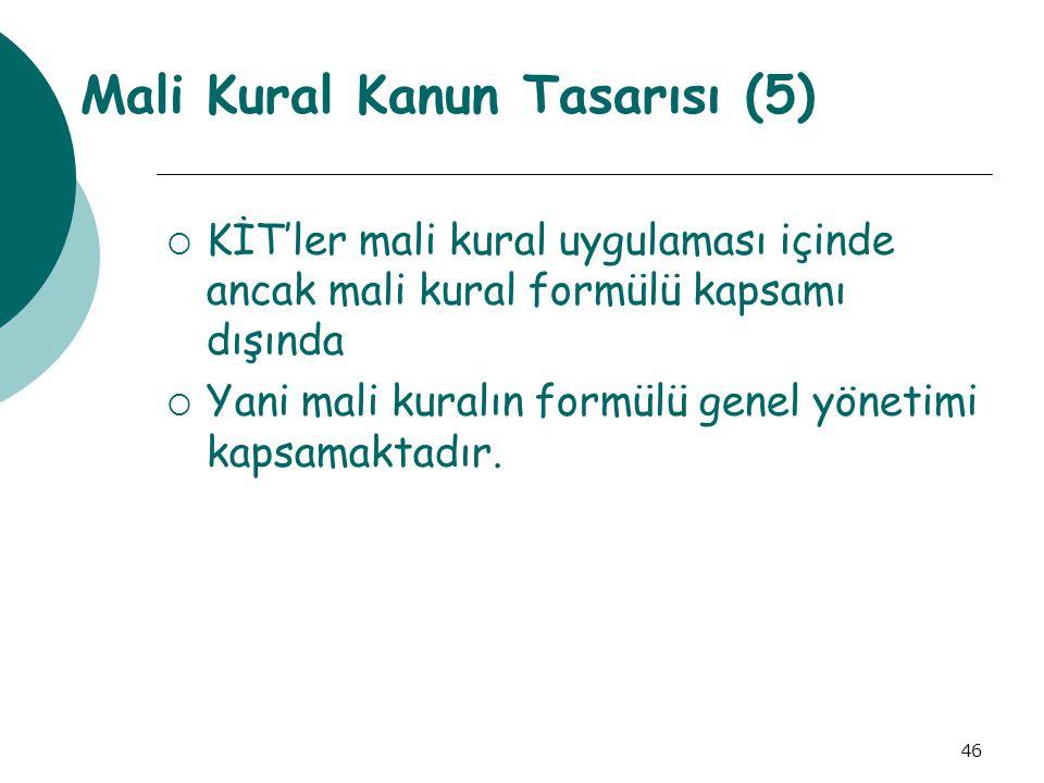 Mali Kural Kanun Tasarısı (5)