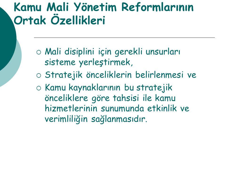 Kamu Mali Yönetim Reformlarının Ortak Özellikleri