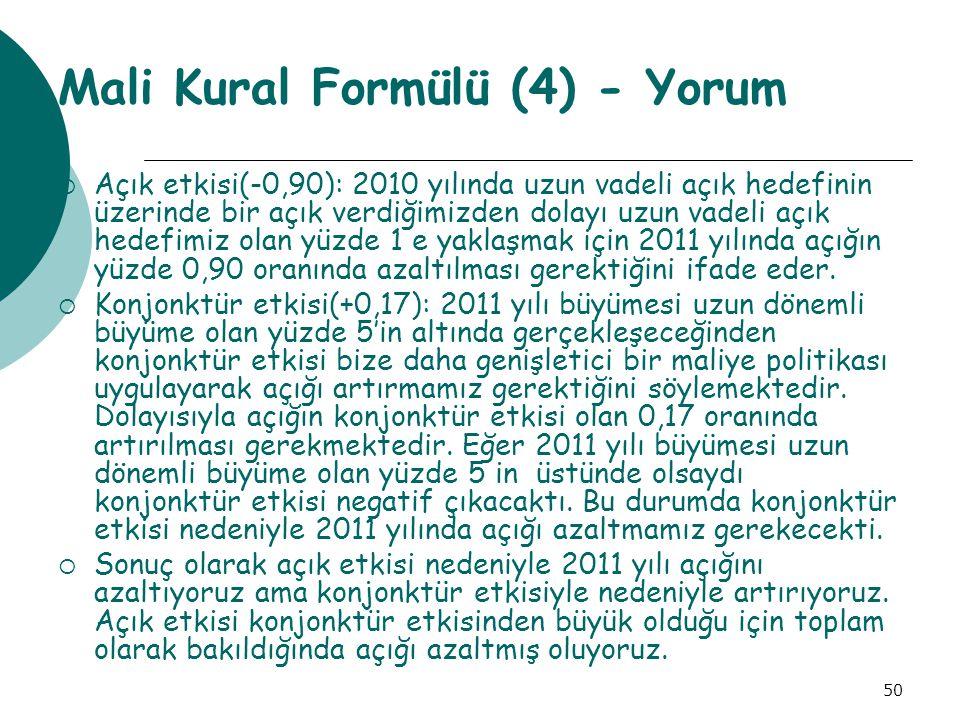 Mali Kural Formülü (4) - Yorum