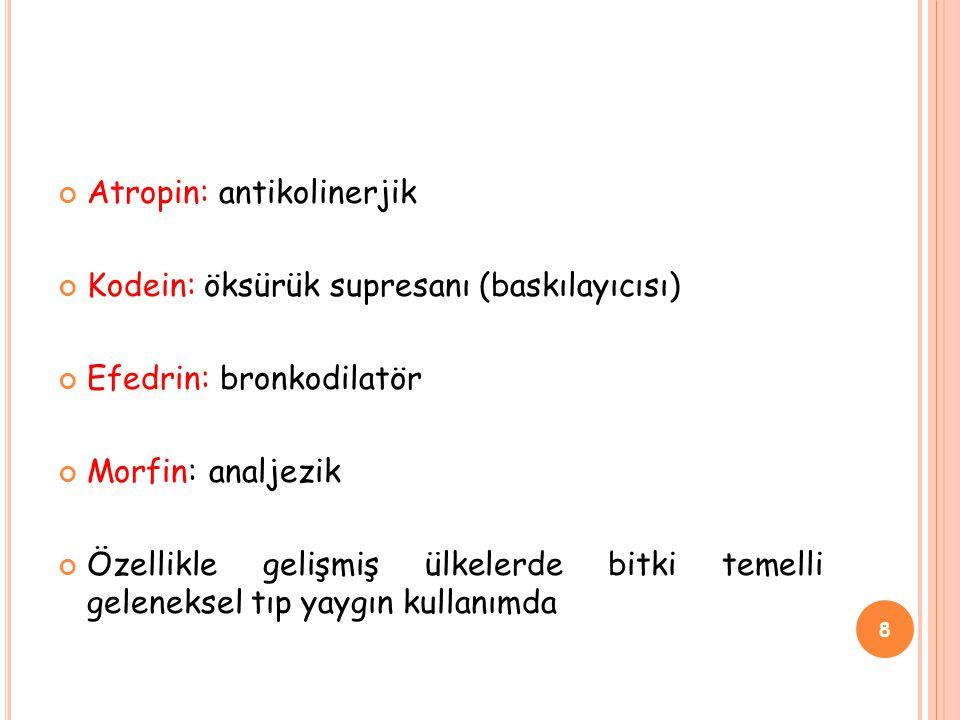 Atropin: antikolinerjik