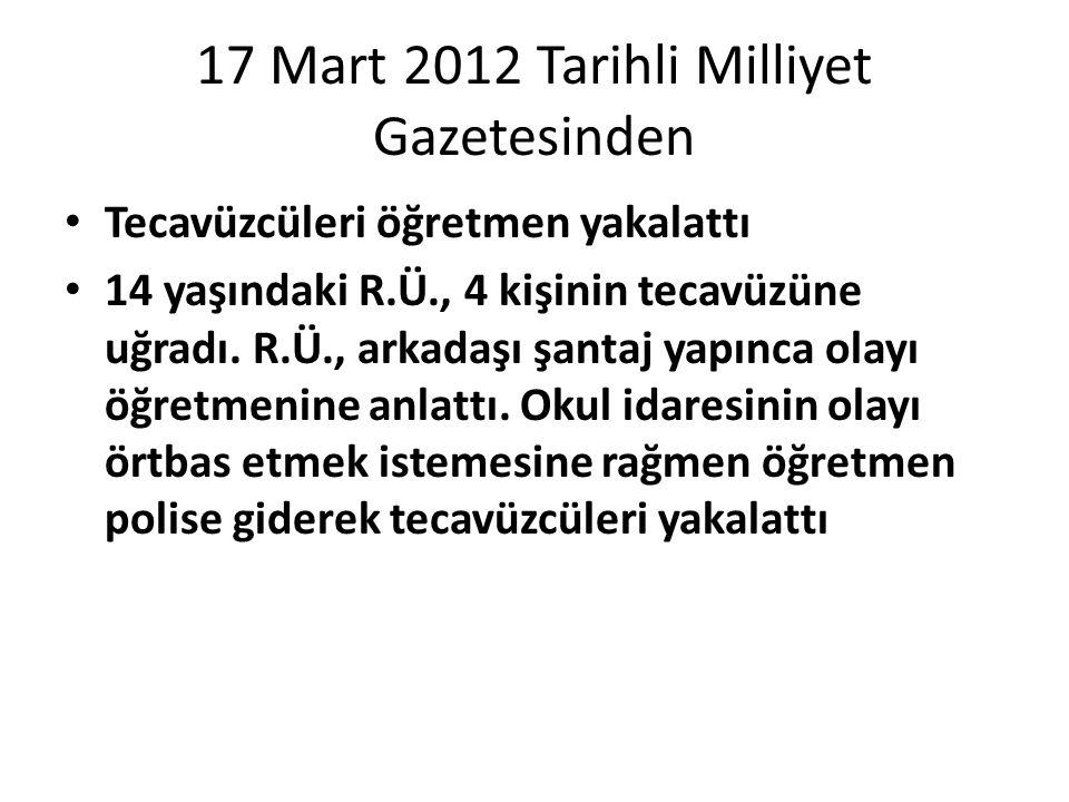 17 Mart 2012 Tarihli Milliyet Gazetesinden