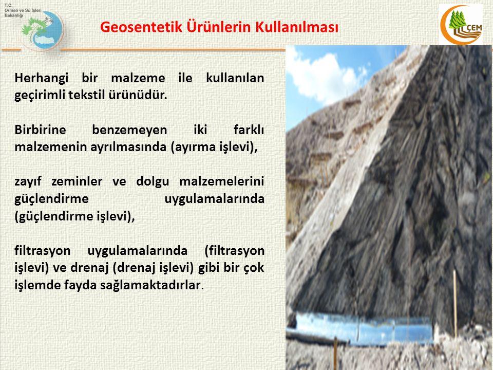 Geosentetik Ürünlerin Kullanılması