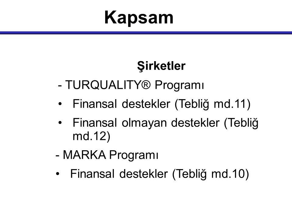 Kapsam Şirketler - TURQUALITY® Programı