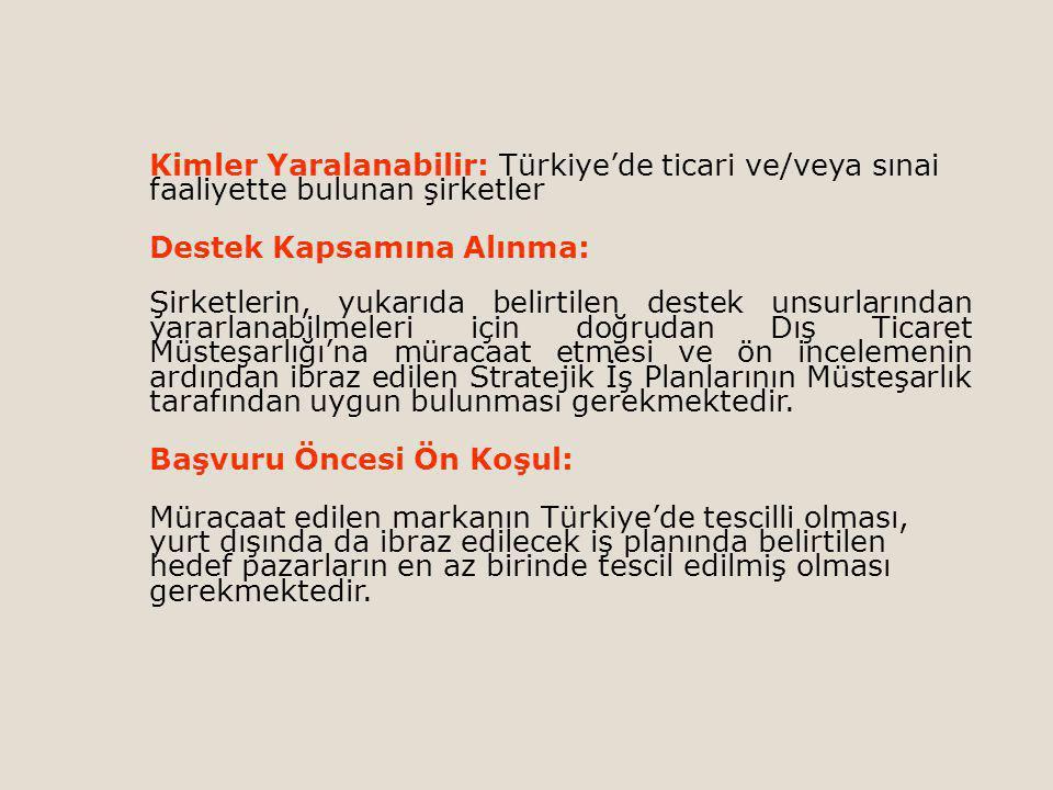 Kimler Yaralanabilir: Türkiye'de ticari ve/veya sınai faaliyette bulunan şirketler