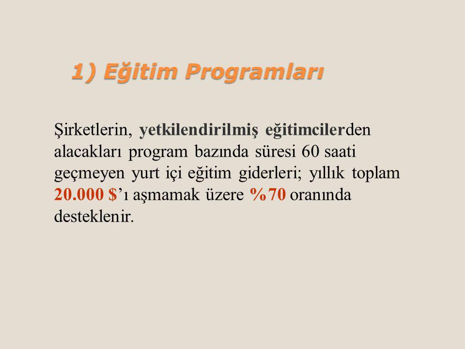 1) Eğitim Programları