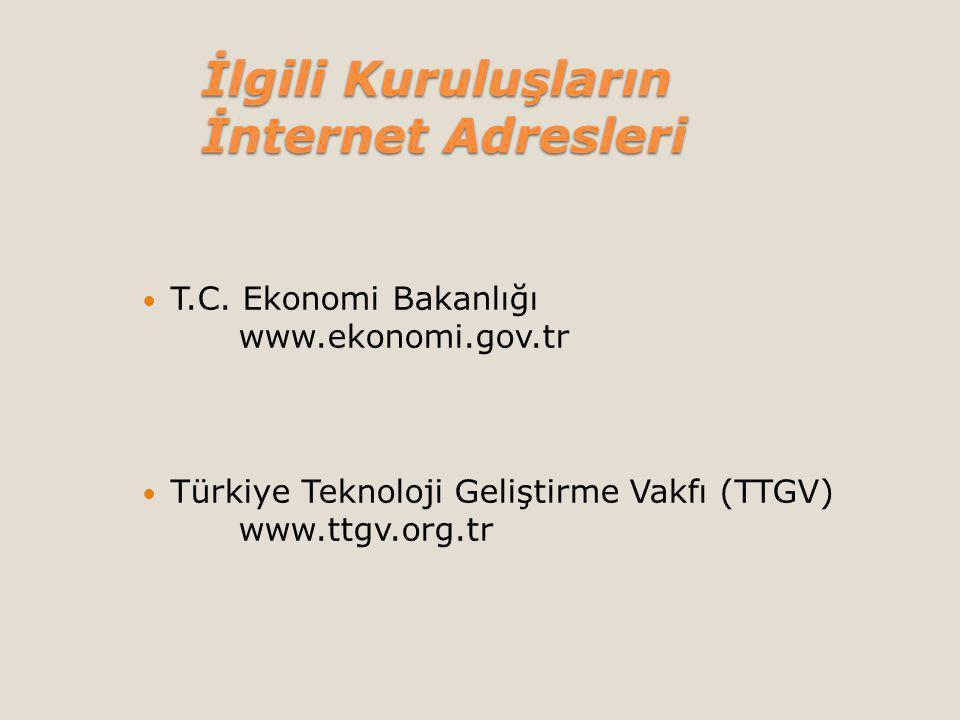 İlgili Kuruluşların İnternet Adresleri