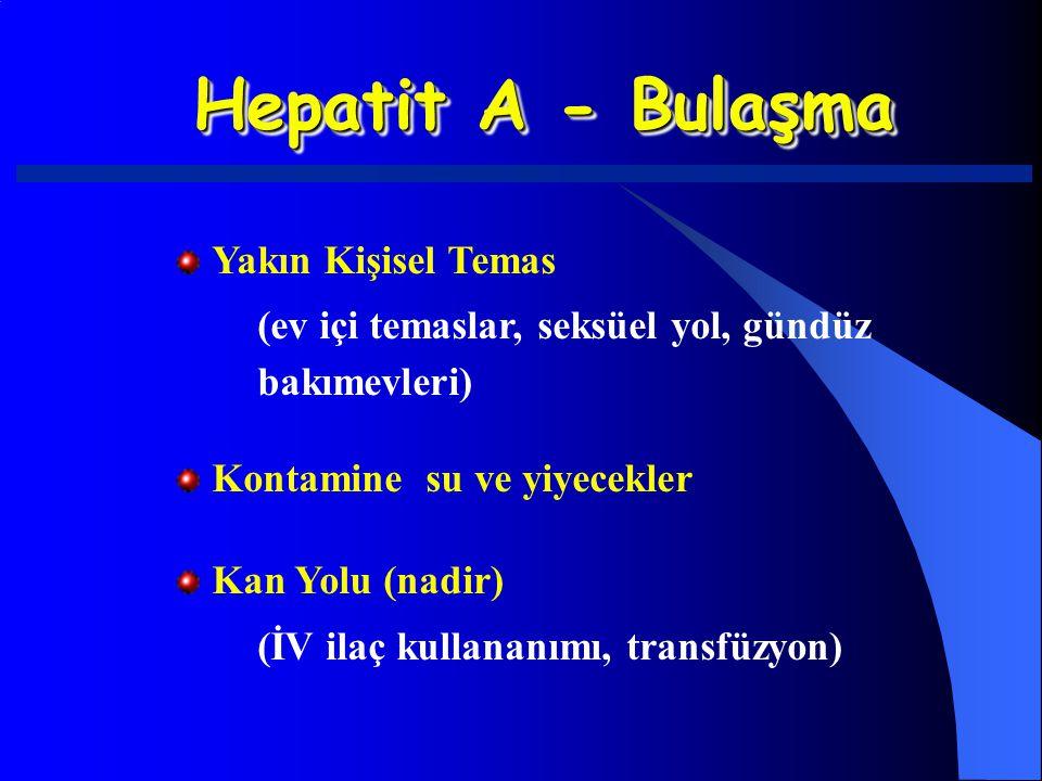 Hepatit A - Bulaşma Yakın Kişisel Temas
