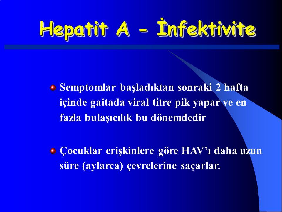Hepatit A - İnfektivite