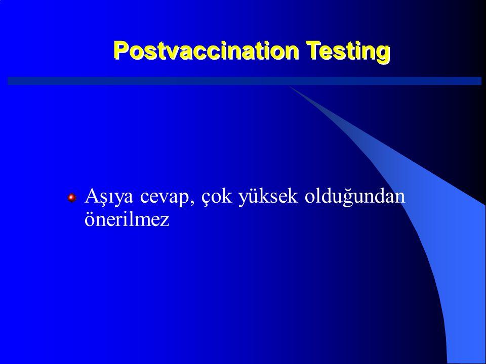 Postvaccination Testing