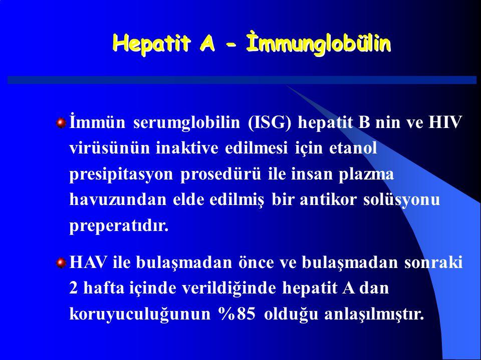 Hepatit A - İmmunglobülin