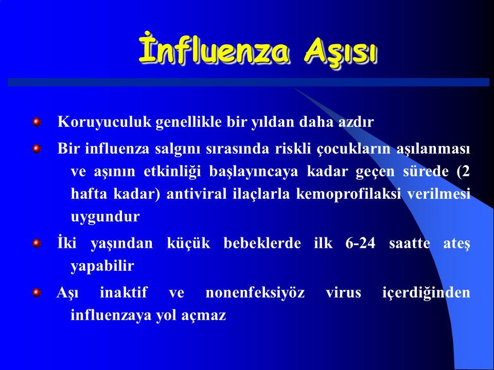 İnfluenza Aşısı Koruyuculuk genellikle bir yıldan daha azdır