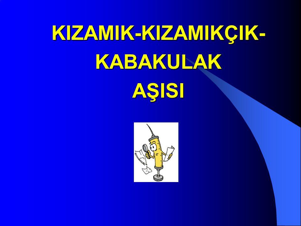 KIZAMIK-KIZAMIKÇIK-KABAKULAK AŞISI