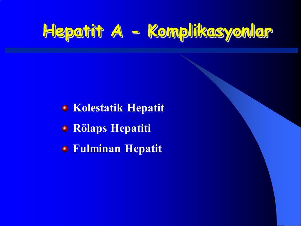 Hepatit A - Komplikasyonlar