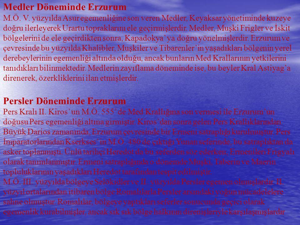 Medler Döneminde Erzurum M. Ö. V