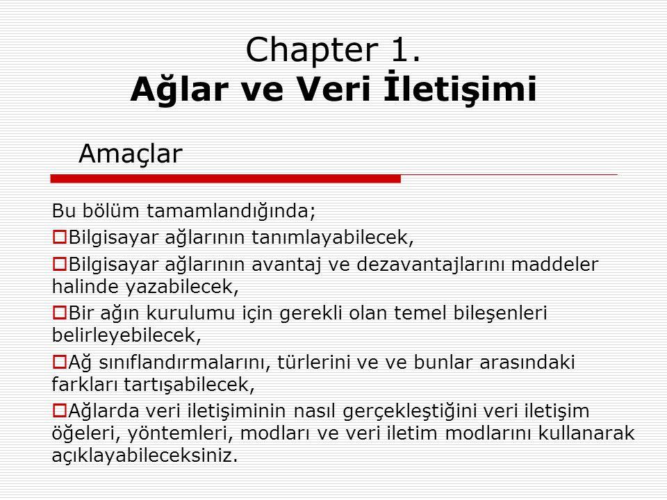 Chapter 1. Ağlar ve Veri İletişimi