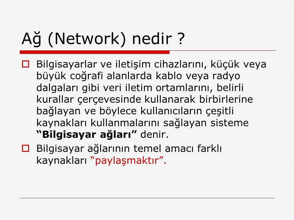 Ağ (Network) nedir