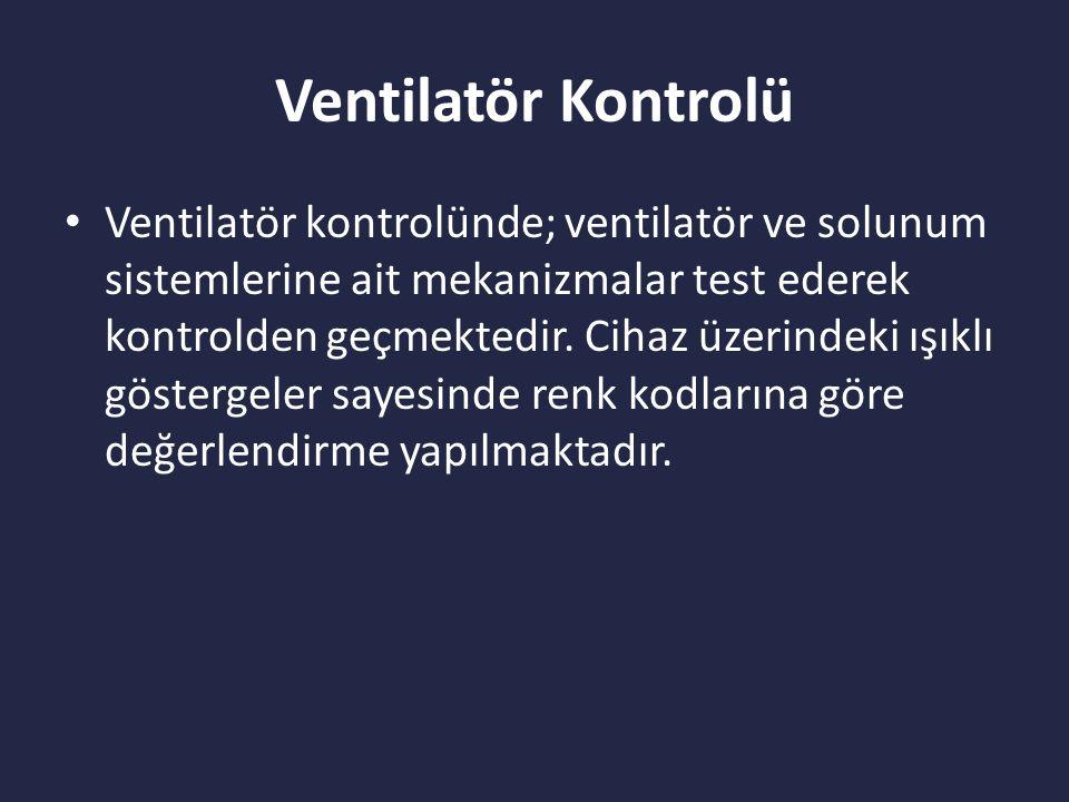 Ventilatör Kontrolü