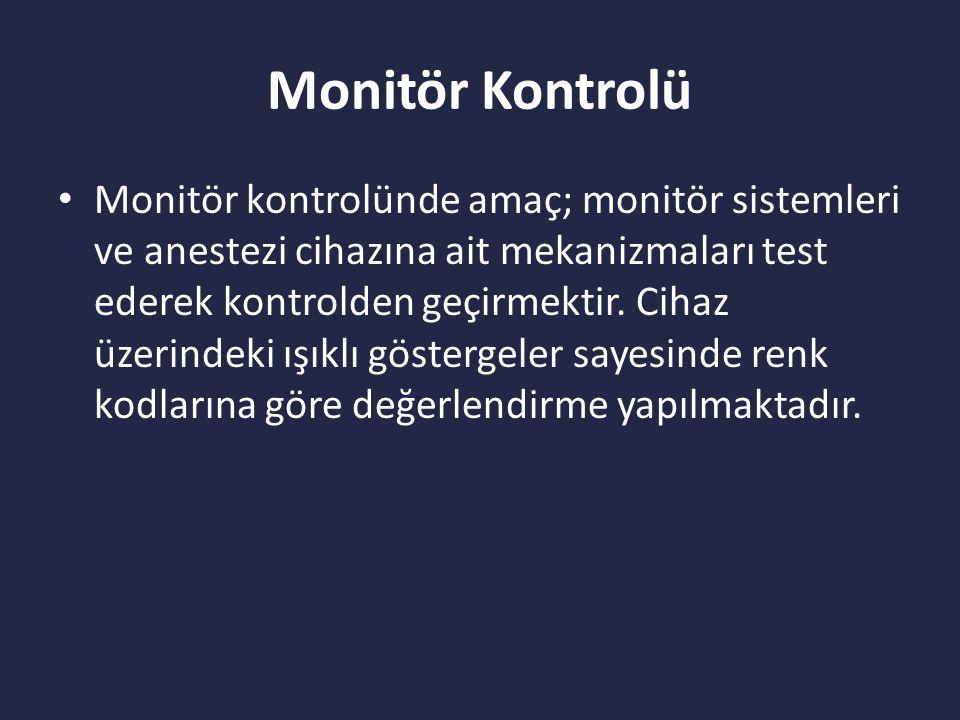 Monitör Kontrolü