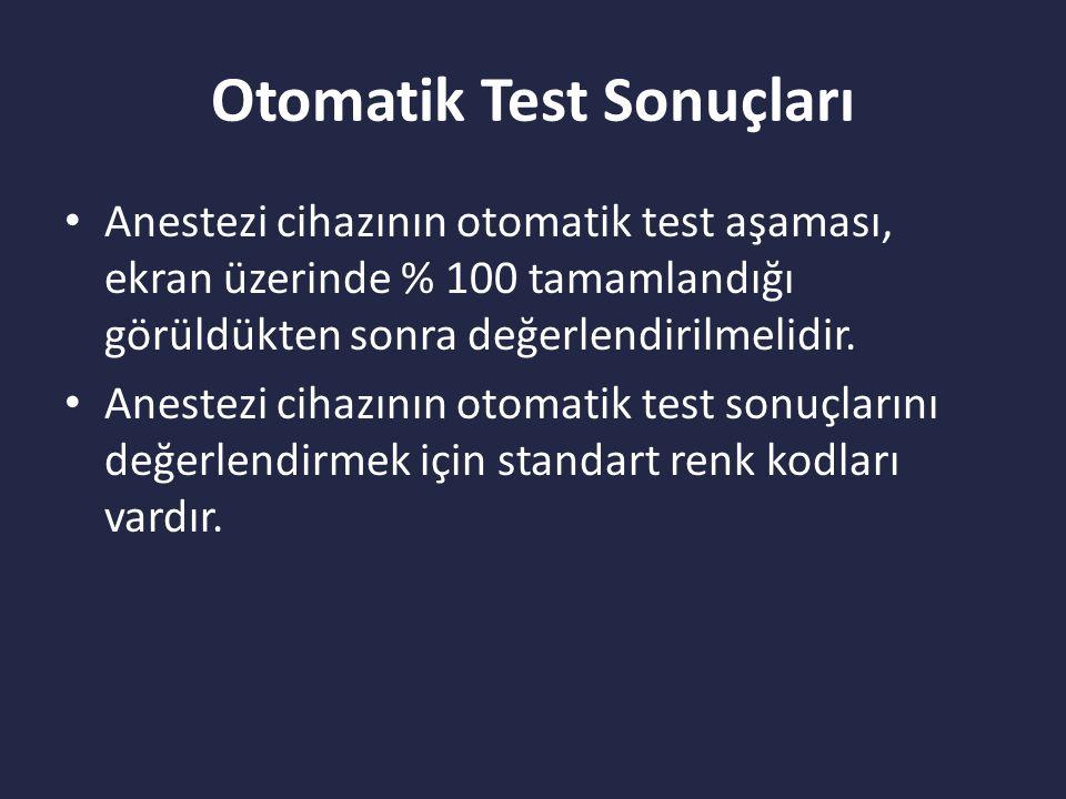 Otomatik Test Sonuçları