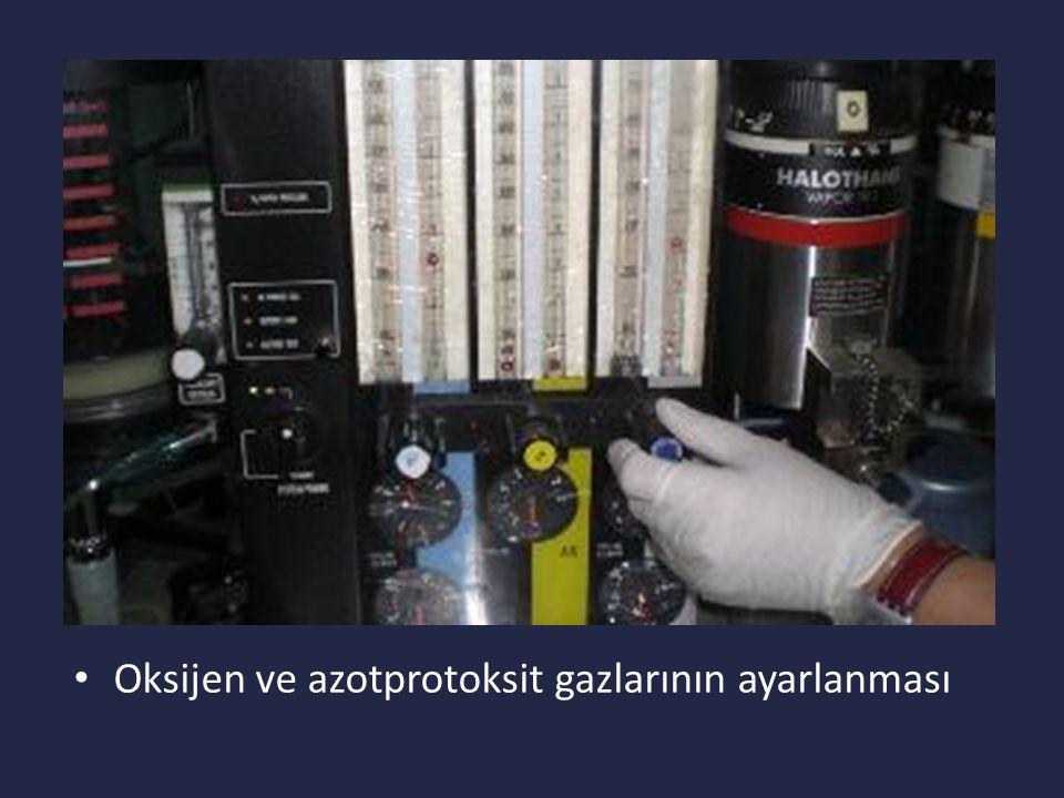 Oksijen ve azotprotoksit gazlarının ayarlanması