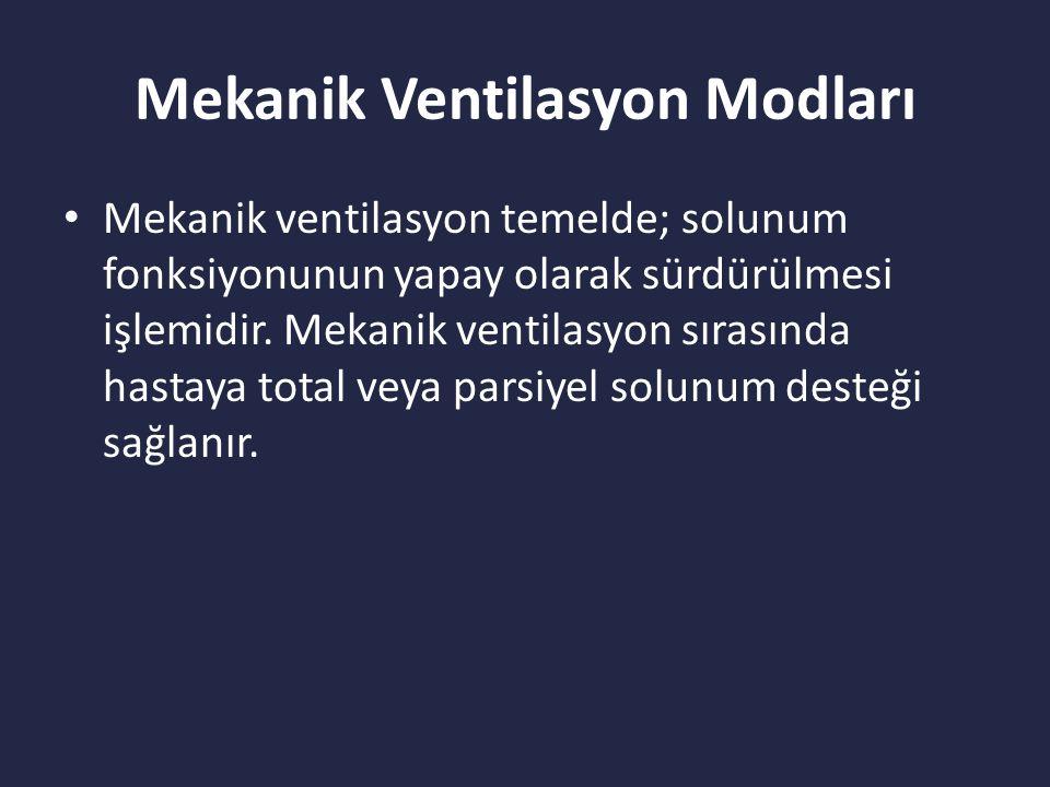 Mekanik Ventilasyon Modları