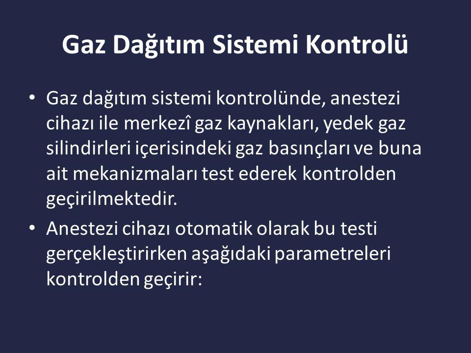 Gaz Dağıtım Sistemi Kontrolü