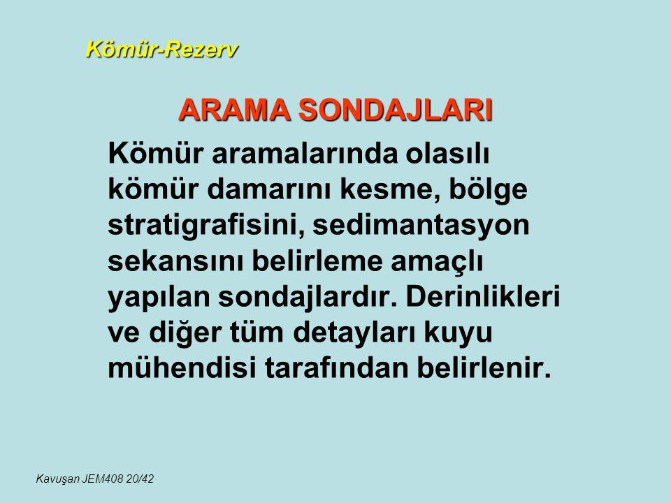 Kömür-Rezerv ARAMA SONDAJLARI.