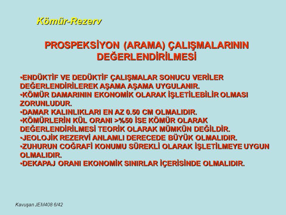PROSPEKSİYON (ARAMA) ÇALIŞMALARININ DEĞERLENDİRİLMESİ