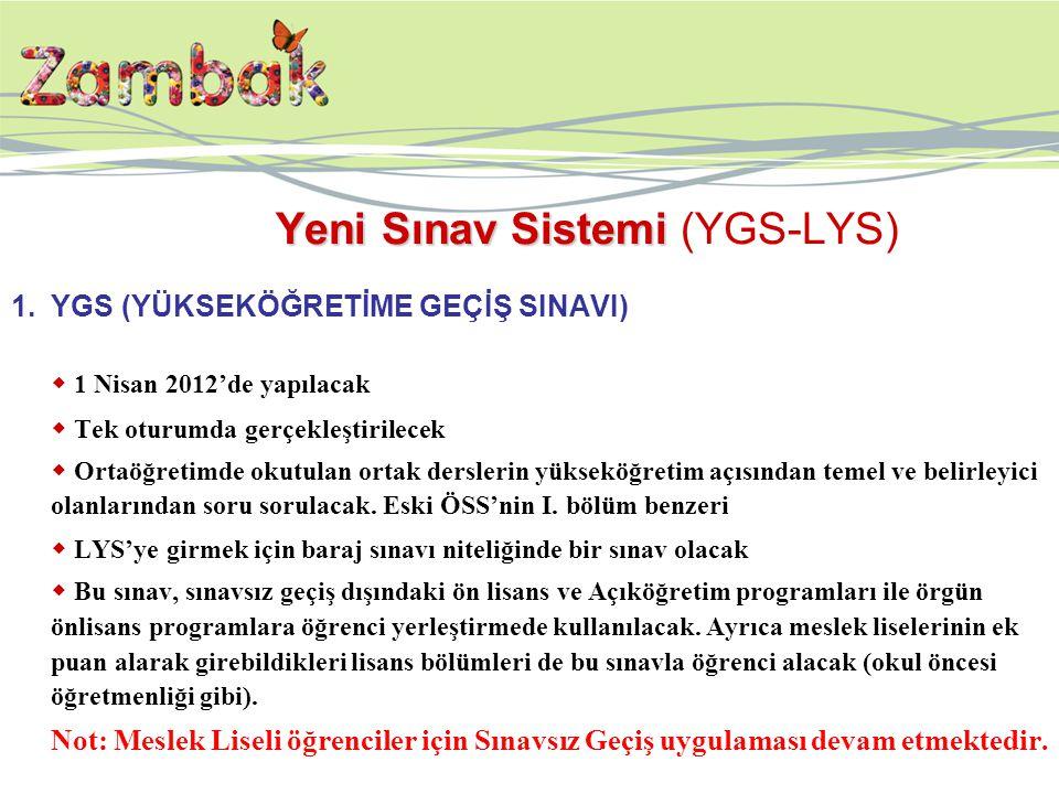 Yeni Sınav Sistemi (YGS-LYS)