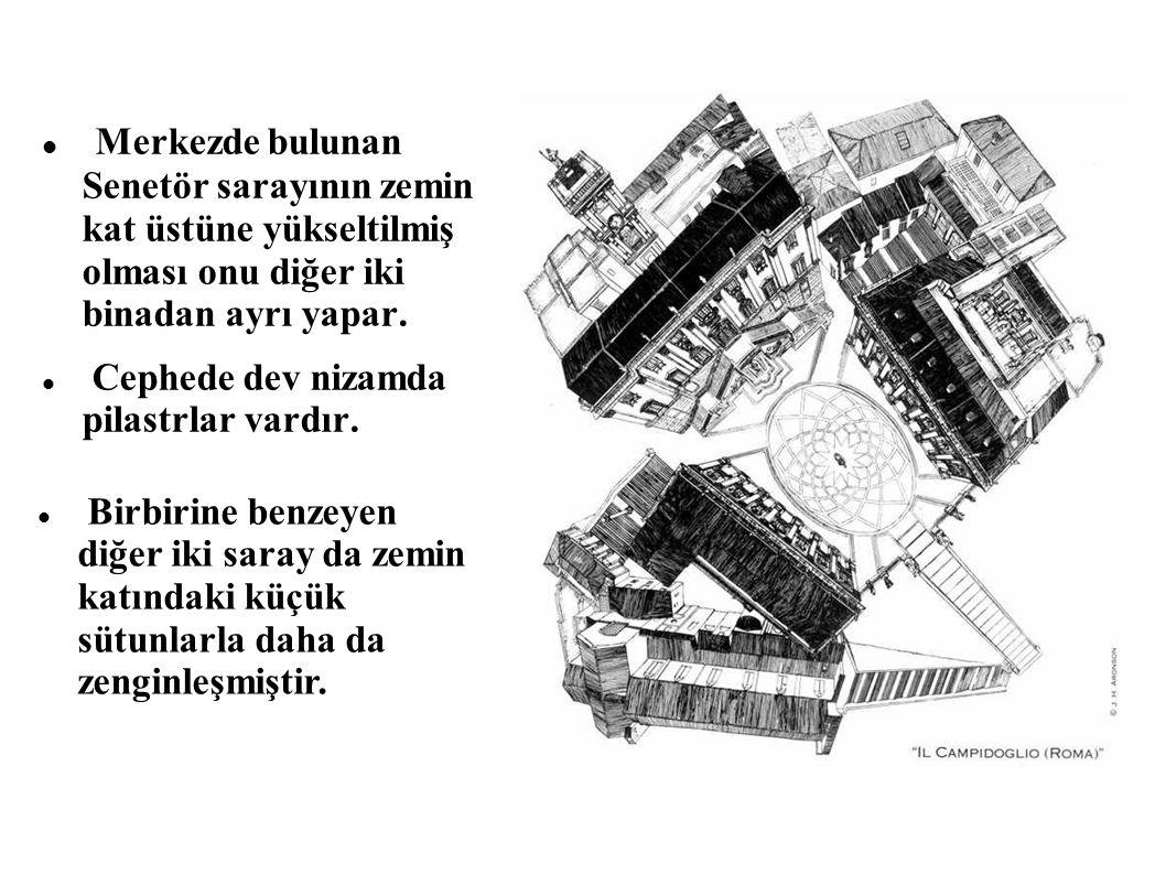 Merkezde bulunan Senetör sarayının zemin kat üstüne yükseltilmiş olması onu diğer iki binadan ayrı yapar.