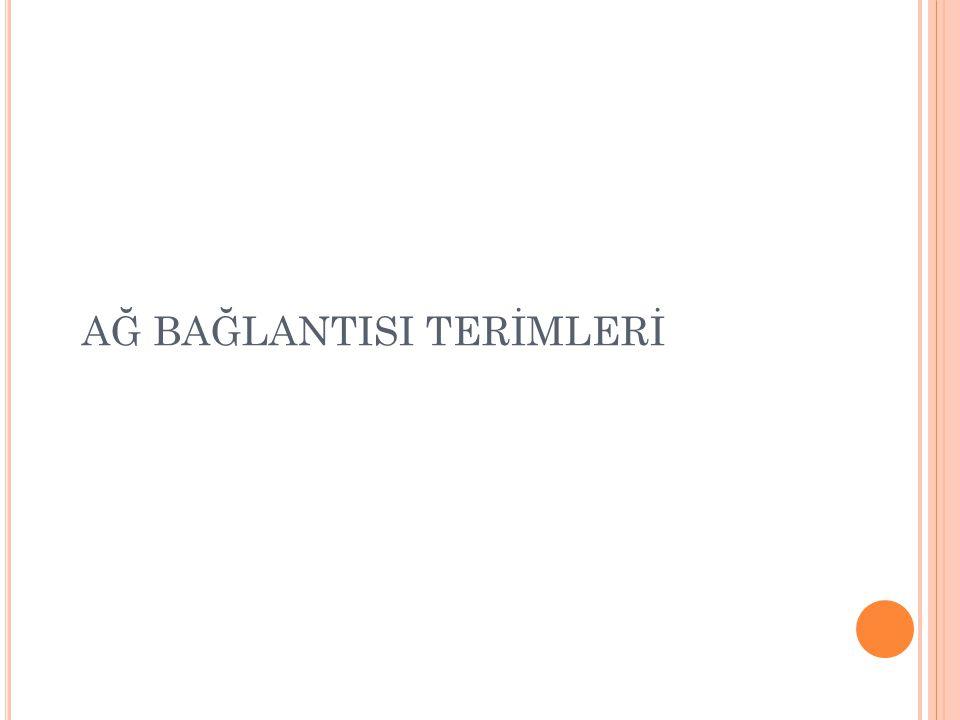 AĞ BAĞLANTISI TERİMLERİ